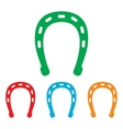 Horseshoe sign Colorfull set vector image vector image