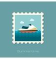 Jet Ski flat stamp vector image