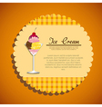 label of a ice cream on a orange background vector image