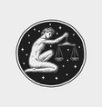 libra zodiac icon astrology horoscope with sign vector image
