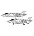 lockheed martin f-35b lightning ii vector image vector image