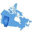 Map of Canada - Alberta province vector image