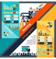 Meeting Infographics Set vector image vector image