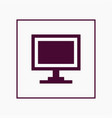 monitor icon simple vector image
