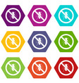 no cockroach sign icon set color hexahedron vector image vector image