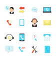 online support and call center icons vector image vector image