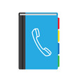 phone book flat icon contact list vector image vector image