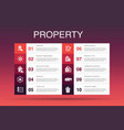 property infographic 10 option templateproperty vector image