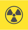 radioactive warning yellow sign vector image