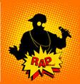 rap festival vector image
