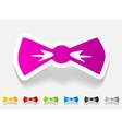 realistic design element bow tie vector image vector image