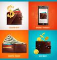 realistic wallet design concept vector image