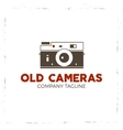 retro poster or logo template with old camera icon vector image vector image