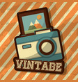 retro vintage device vector image vector image