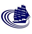 Sailing ship-11 vector image vector image