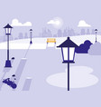 scene park isolated icon vector image
