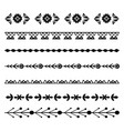 set black natural horizontal dividers seamless vector image vector image