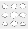 set clouds vector image vector image