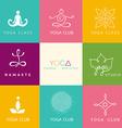 Set of logos for a yoga studio vector image vector image
