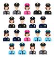 Set of policemen characters vector image vector image