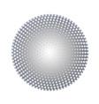 silver halftone circle vector image vector image