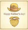 Sketch Fathers day card vector image