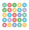 Snowflakes Colored Icons 2 vector image vector image