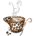 Stylized coffee cup vector image