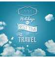 Summer holidays poster in cutout paper style vector image