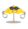 super coolumbrella yellow in a shape cartoon vector image