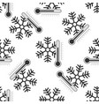 thermometer with snowflake icon seamless pattern vector image vector image