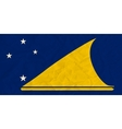 Tokelau paper flag vector image vector image