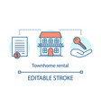 townhome rental concept icon vector image