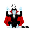 Vampire yoga Dracula meditates on white background vector image vector image