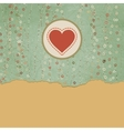 Vintage Valentine Hearts Card vector image vector image
