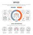 website banner and landing page office vector image vector image