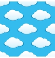 White fluffy clouds in a blue sky seamless pattern vector image vector image
