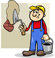 worker with trowel cartoon vector image