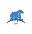 polar bear logo concept vector image
