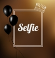 Selfie Text in a frame vector image