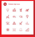 16 high icons vector image vector image