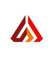 abstract pyramid line company logo vector image vector image