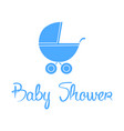 baby shower background vector image vector image