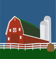 Big Red Barn vector image