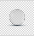 big white transparent glass sphere ball vector image