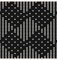black and white geometric checkered pattern vector image