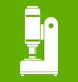 blacksmith automatic hammer icon green vector image vector image