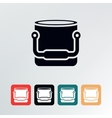 bucket icon vector image