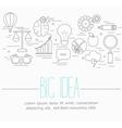 Business big idea symbols vector image vector image