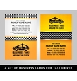 Business card - CAB vector image vector image